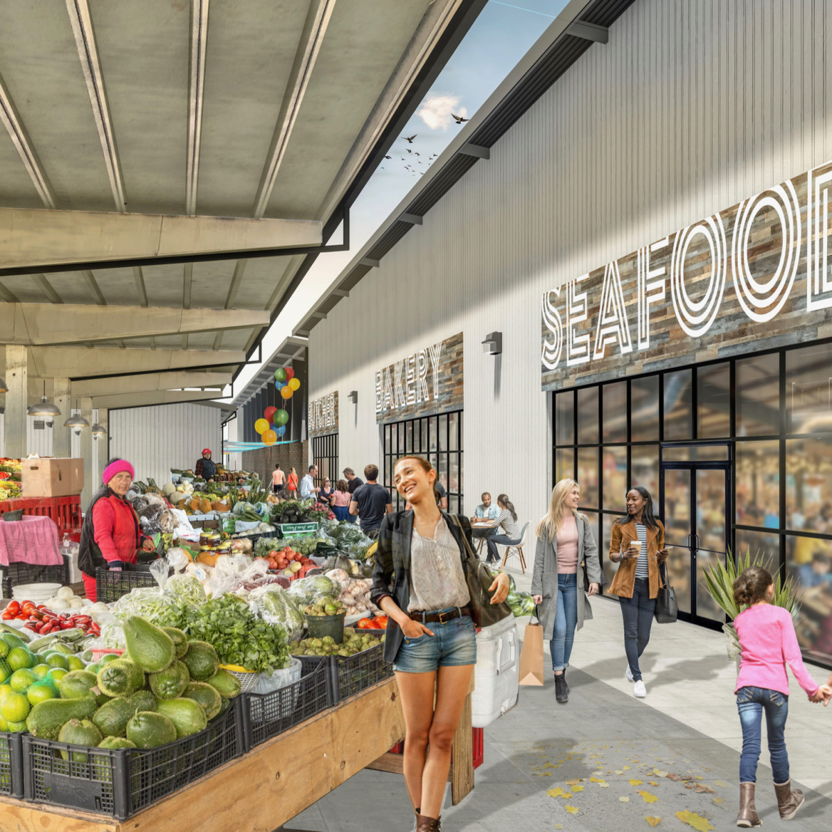 Houston Farmers Market bakery rendering