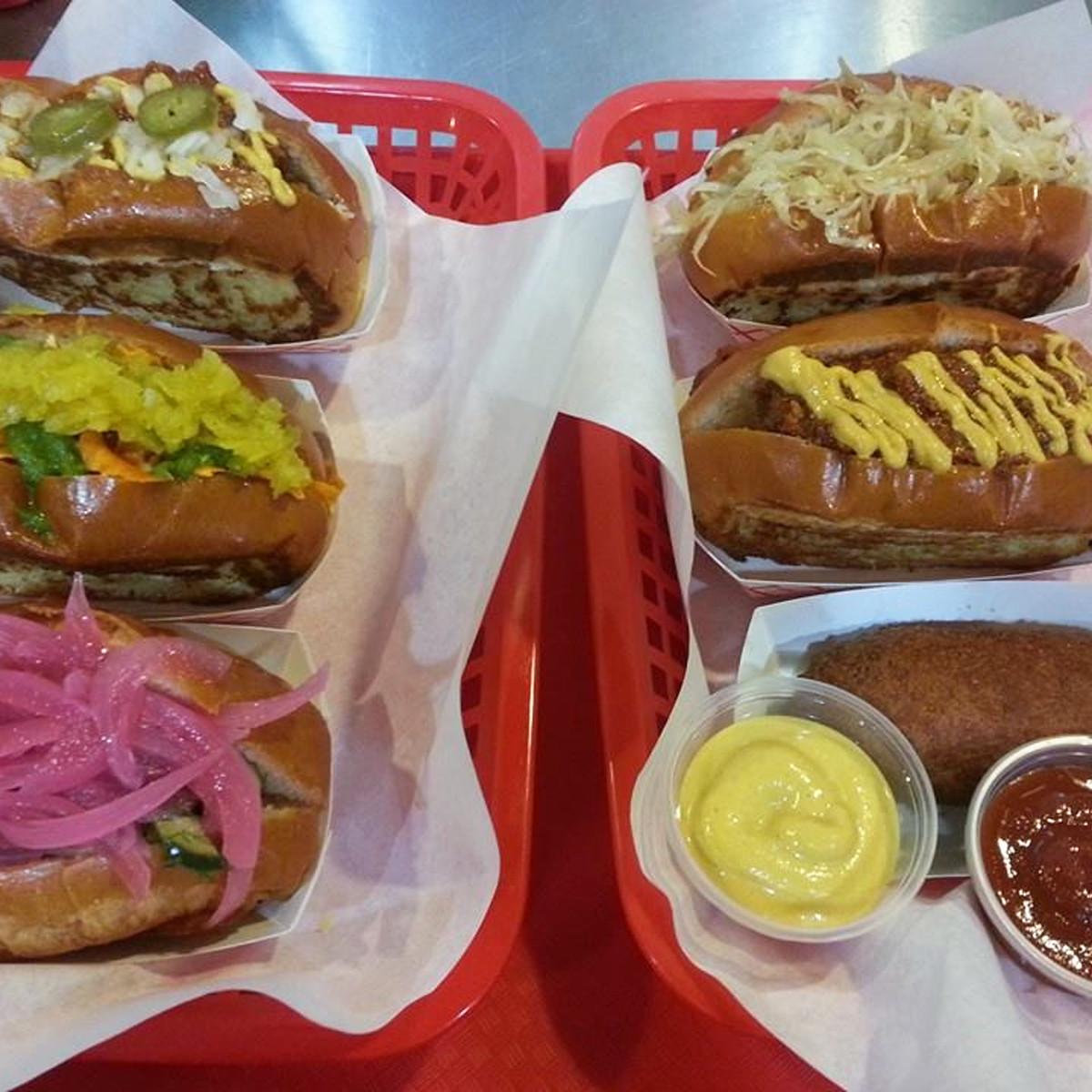 Good Dog Houston hot dogs corndogs December 2013
