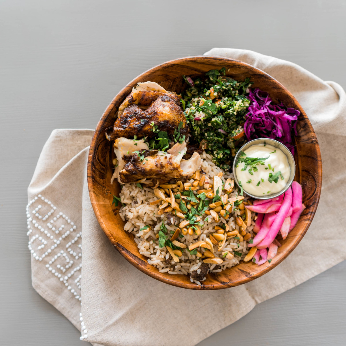 Craft Pita chicken bowl