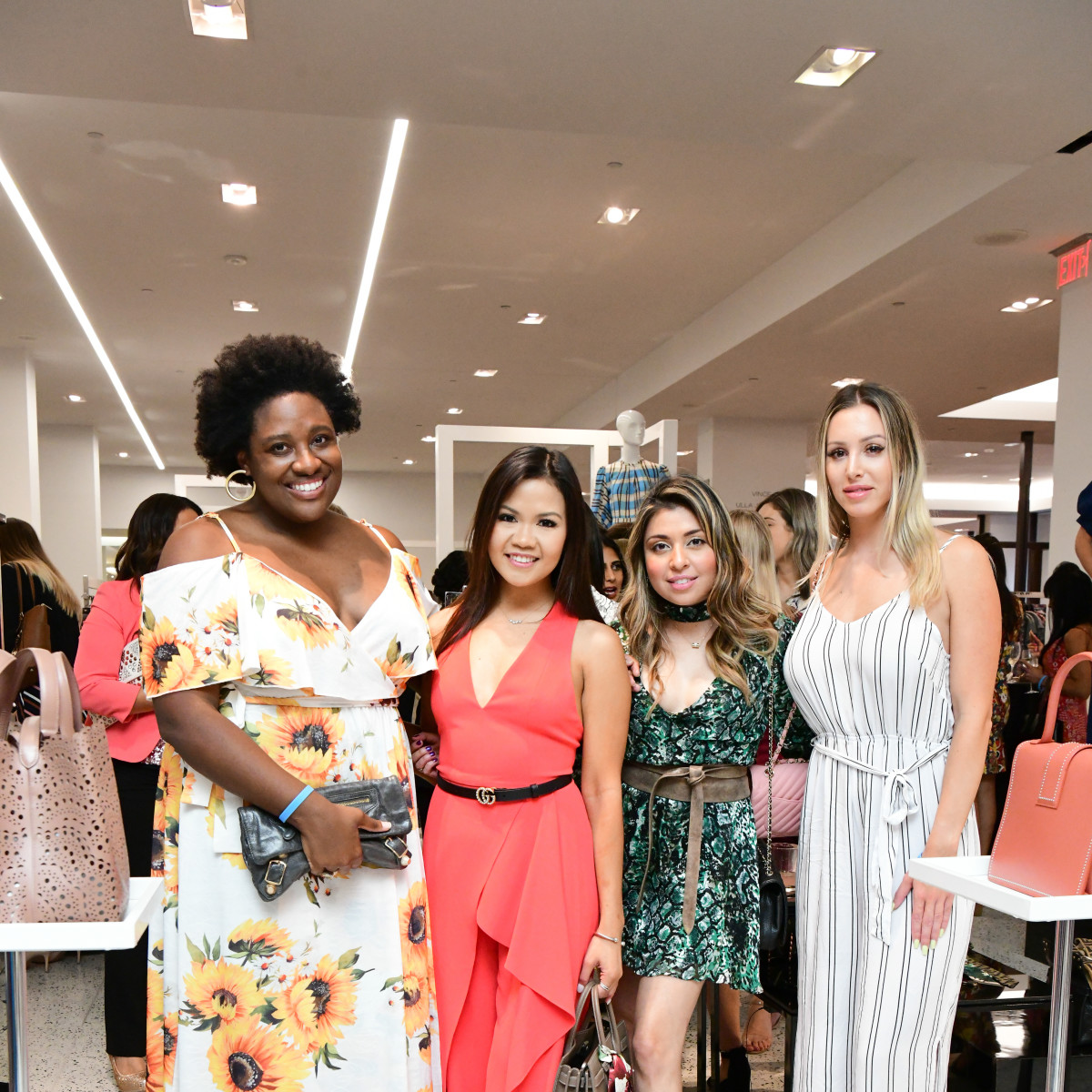 Summer Soiree Dress for Success WOW Tootsies Chelsea Wade, Angelica Bondoc, Steffany Velasquez, Jenniece Wotton