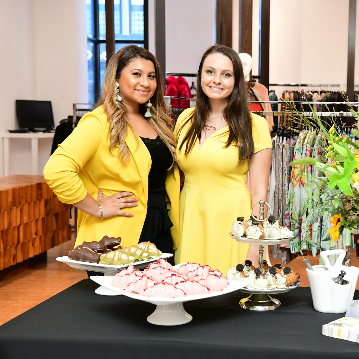 Summer Soiree Dress for Success WOW Tootsies Jeannette Gonzalez (EggHaus Gourmet owner), Maddison Smith