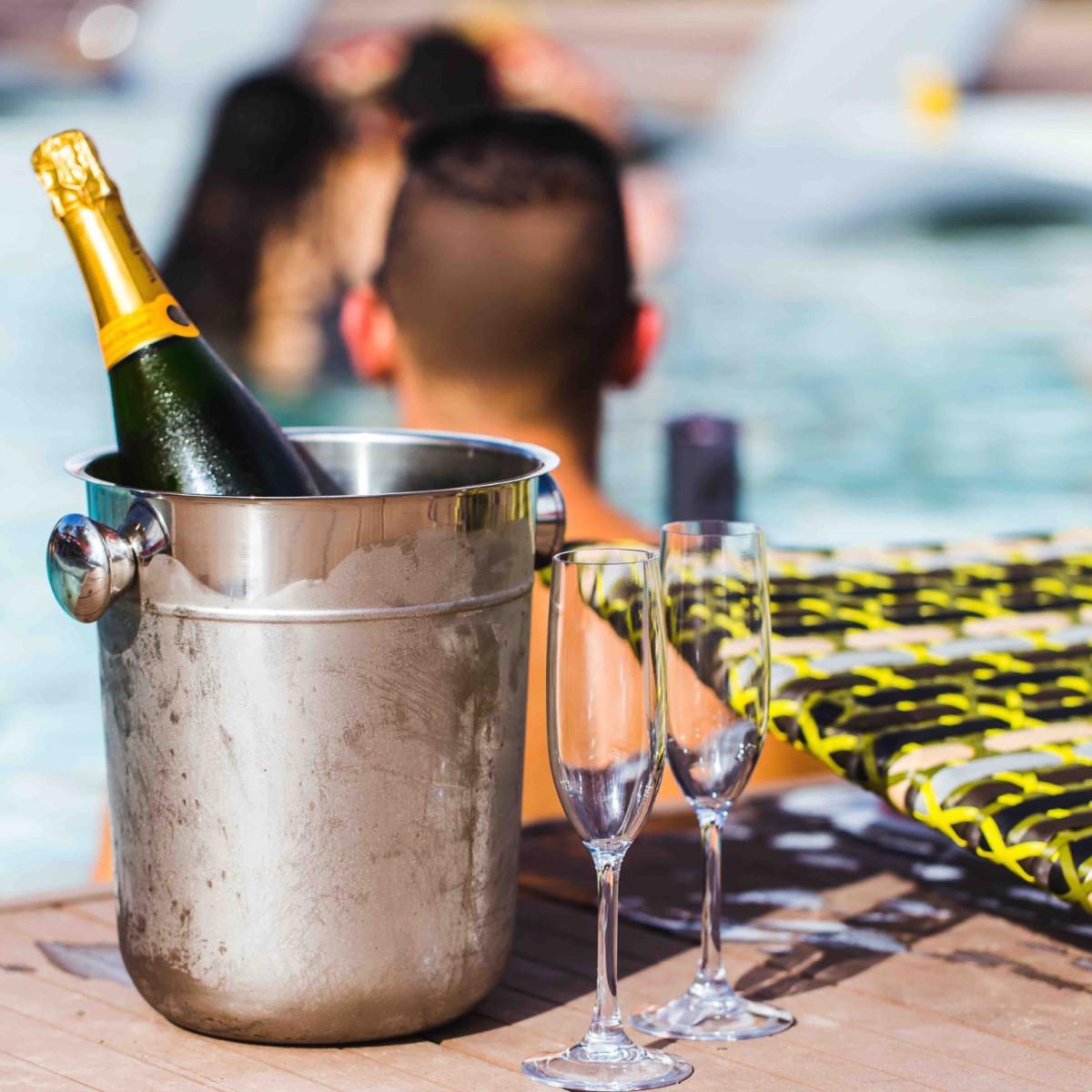 El Segundo Swim Club champagne bottle