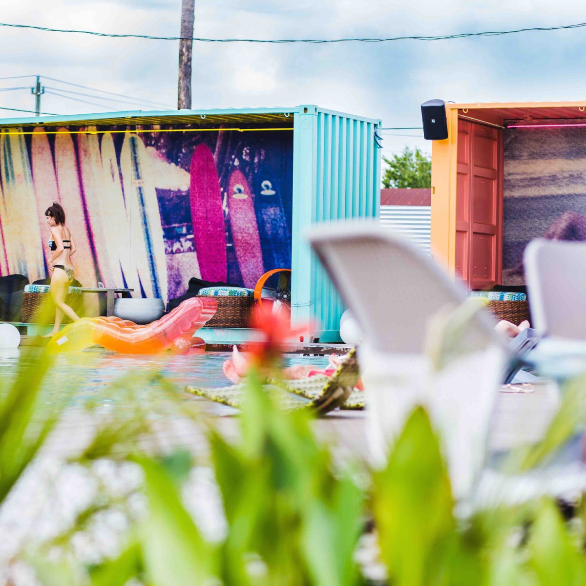 El Segundo Swim Club cabanas