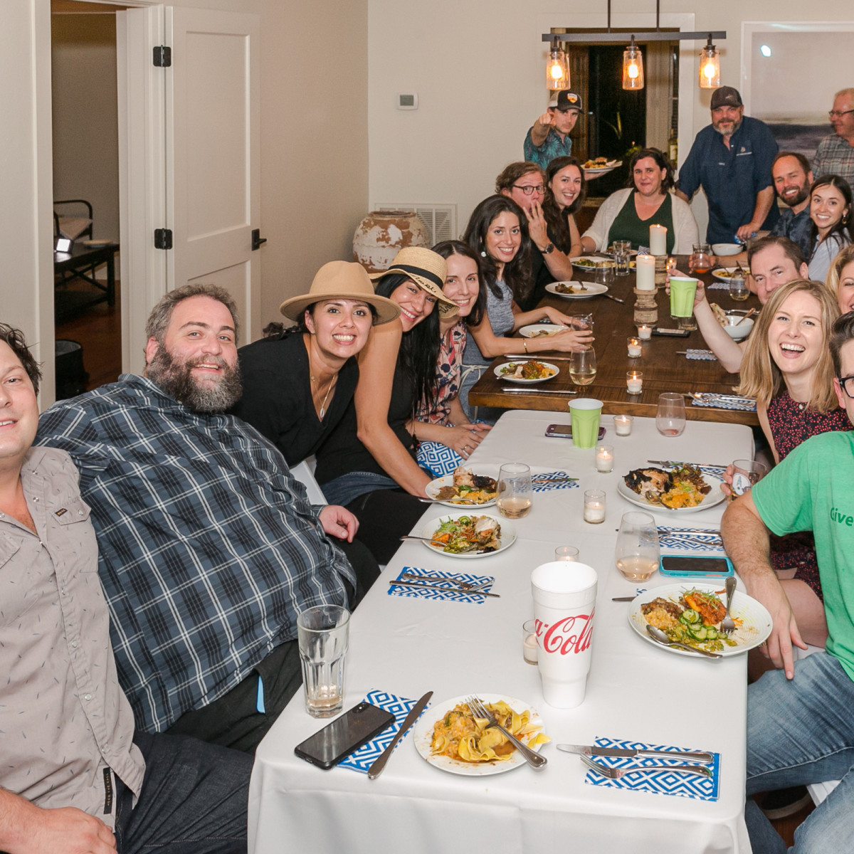 Chris Shepherd cookbook party group shot