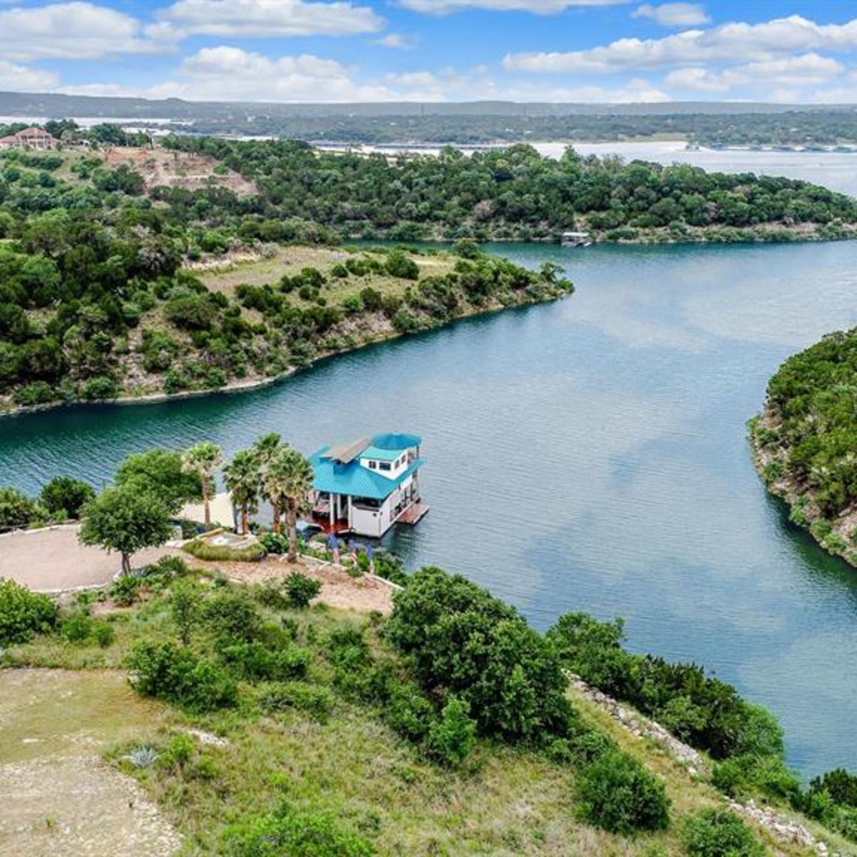 Lago Vista Lake Travis home boathouse