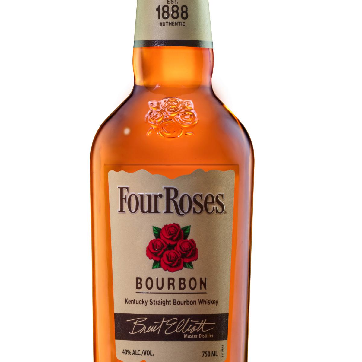 Bottle of Four Roses bourbon