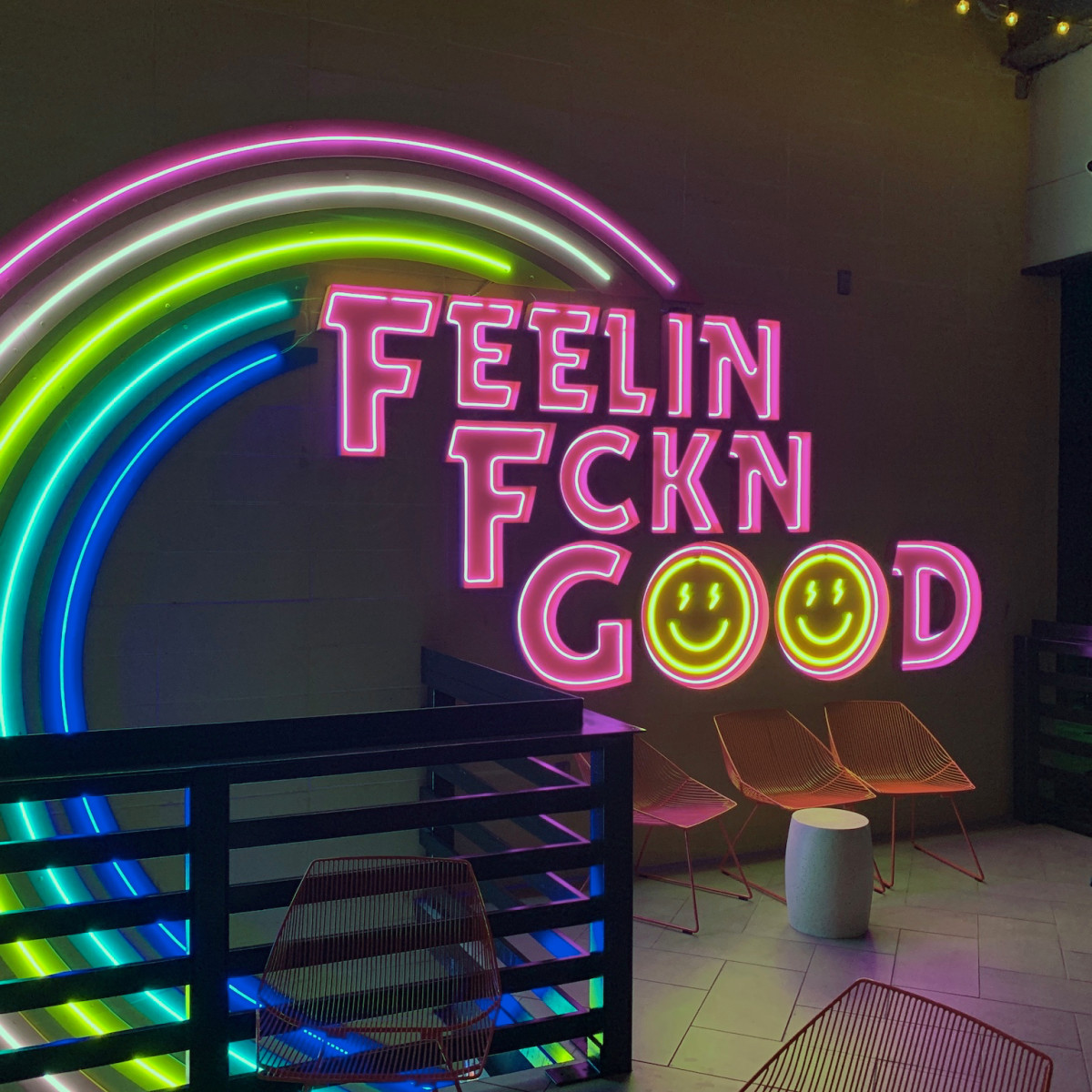 Electric FeelGood neon sign