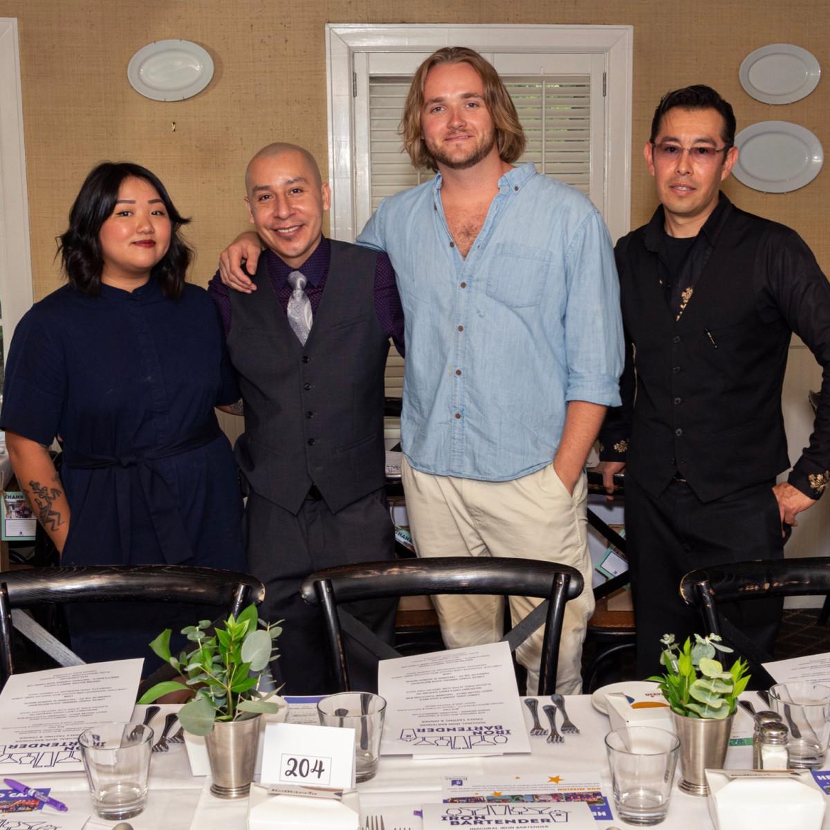 Iron Bartender Kristine Nguyen, Jose Santiago, Garrett Jones, Carlos Chino Serrano