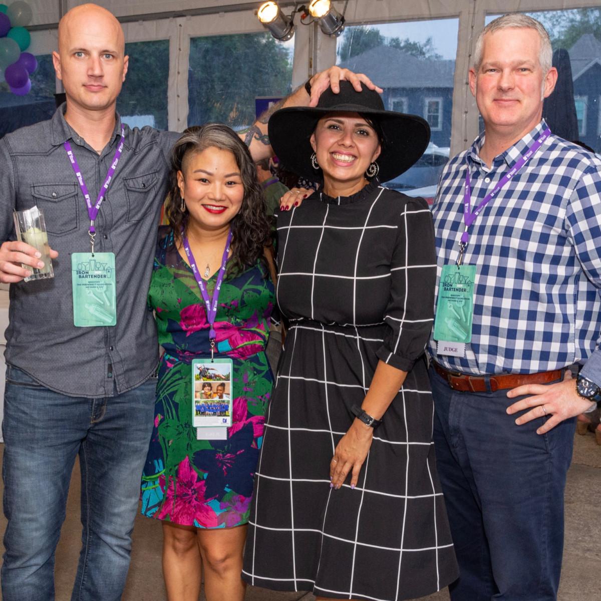 Iron Bartender Todd Leveritt, Cat Nguyen, Linda Salinas, Antonio Gianola