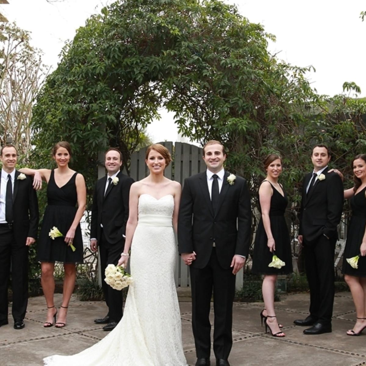Wedding party outdoor
