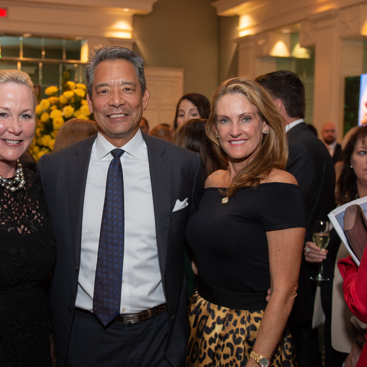 Houston Ballet Onstage Dinner Sara Paschall Dodd, Frank and Stephanie Tsuru