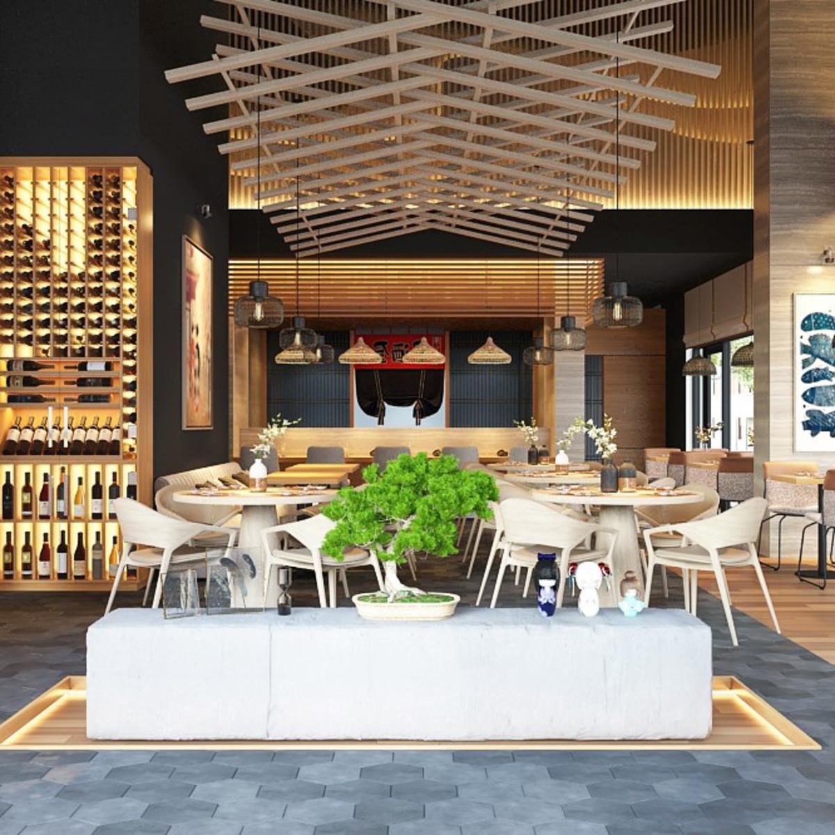 Kanau Sushi rendering Mike Lim