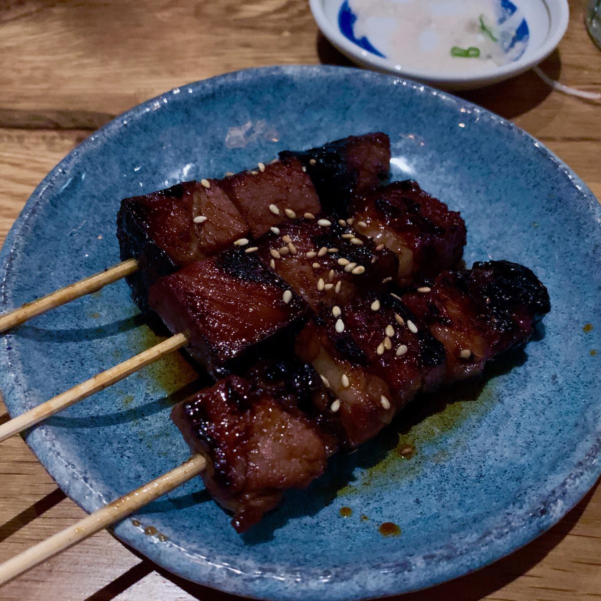 Toukei Izakaya beef short rib skewer