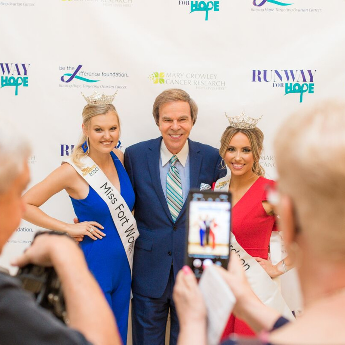 Miss Fort Worth Landry Champlin, master of ceremonies Scott Murray, Miss Richardson Erica Kuntz