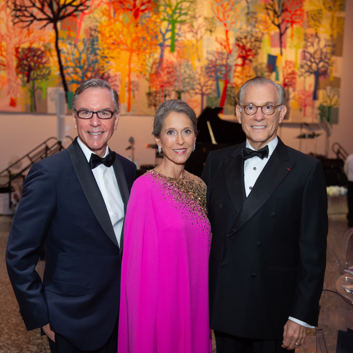 MFAH Grand Gala Ball 2019 Ball Chairs Bill and Susanne Pritchard, Gary Tinterow; Photo by Wilson Parish