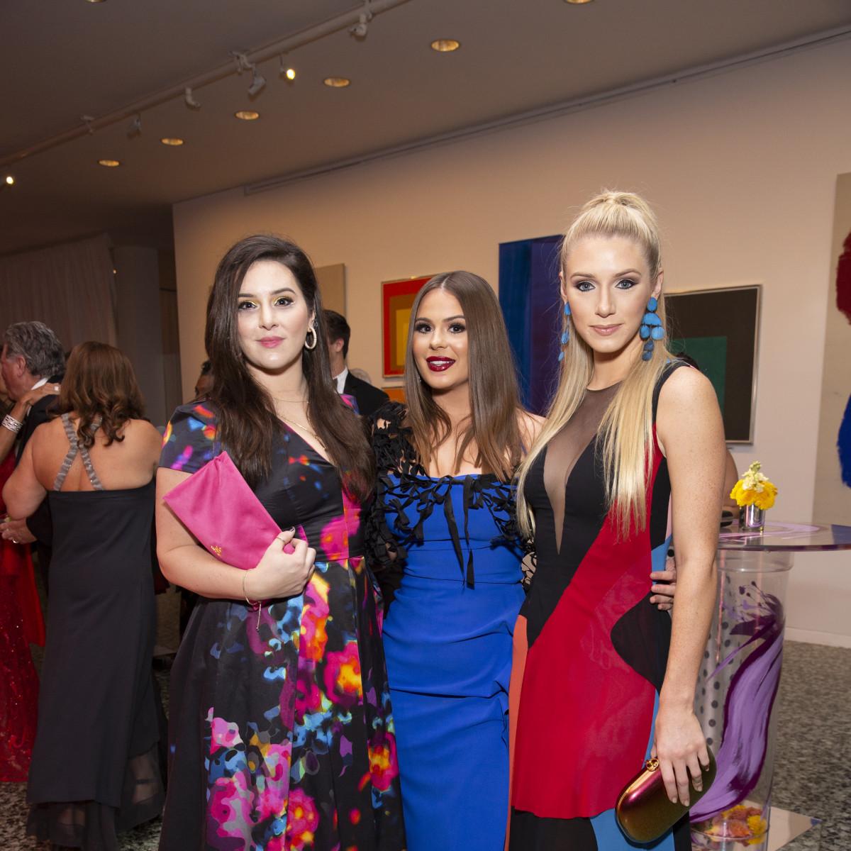 MFAH Grand Gala Ball 2019 Olivia Flores Meredith Flores Alanna Flores