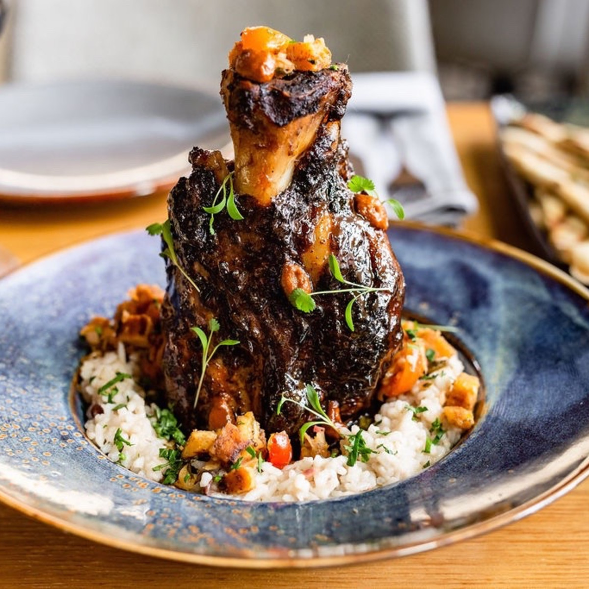 Traveler's Table jamaican Jerk pork shank