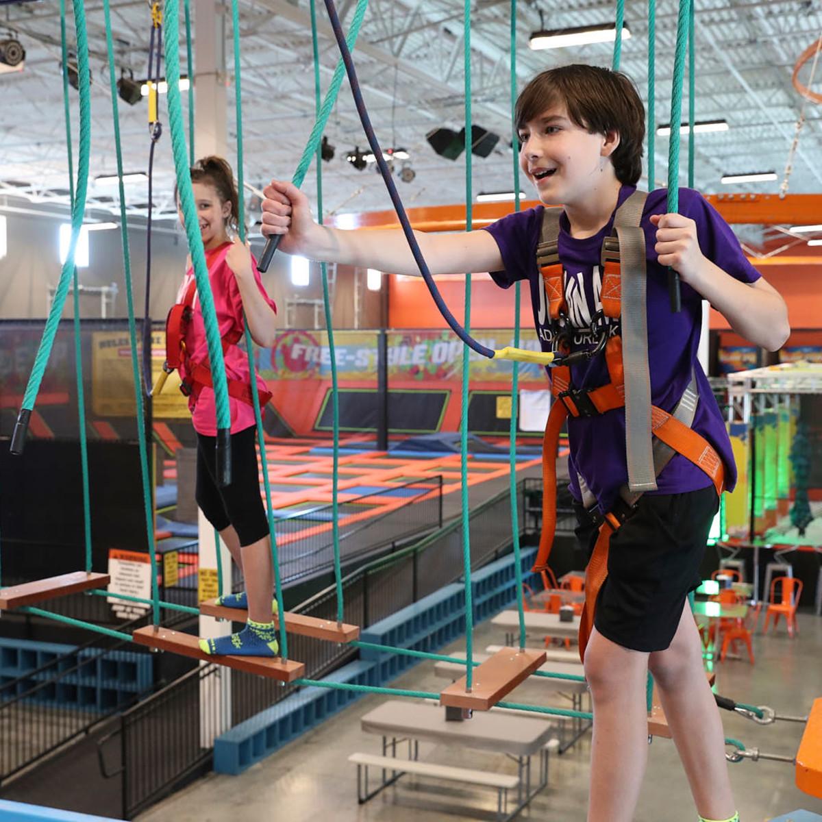 Urban Air Adventure Park ropes course