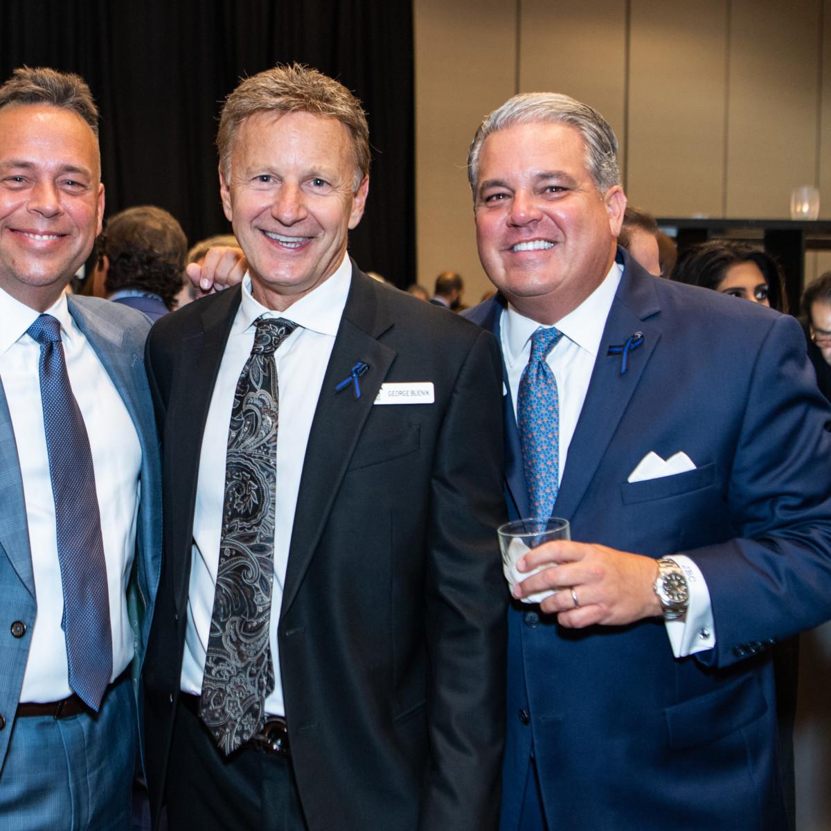 Crime Stoppers Gala 2019 HPD Commander Jim Dale, George Buenik, John Crapitto