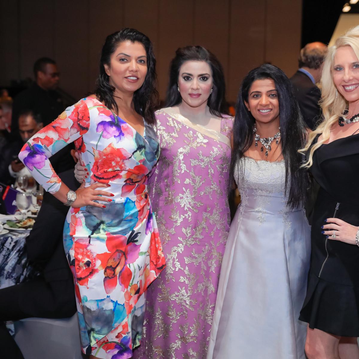 Crime Stoppers Gala 2019 Mona Khan, Maha Kahan, Farida Abjani, Tracy Faulkner