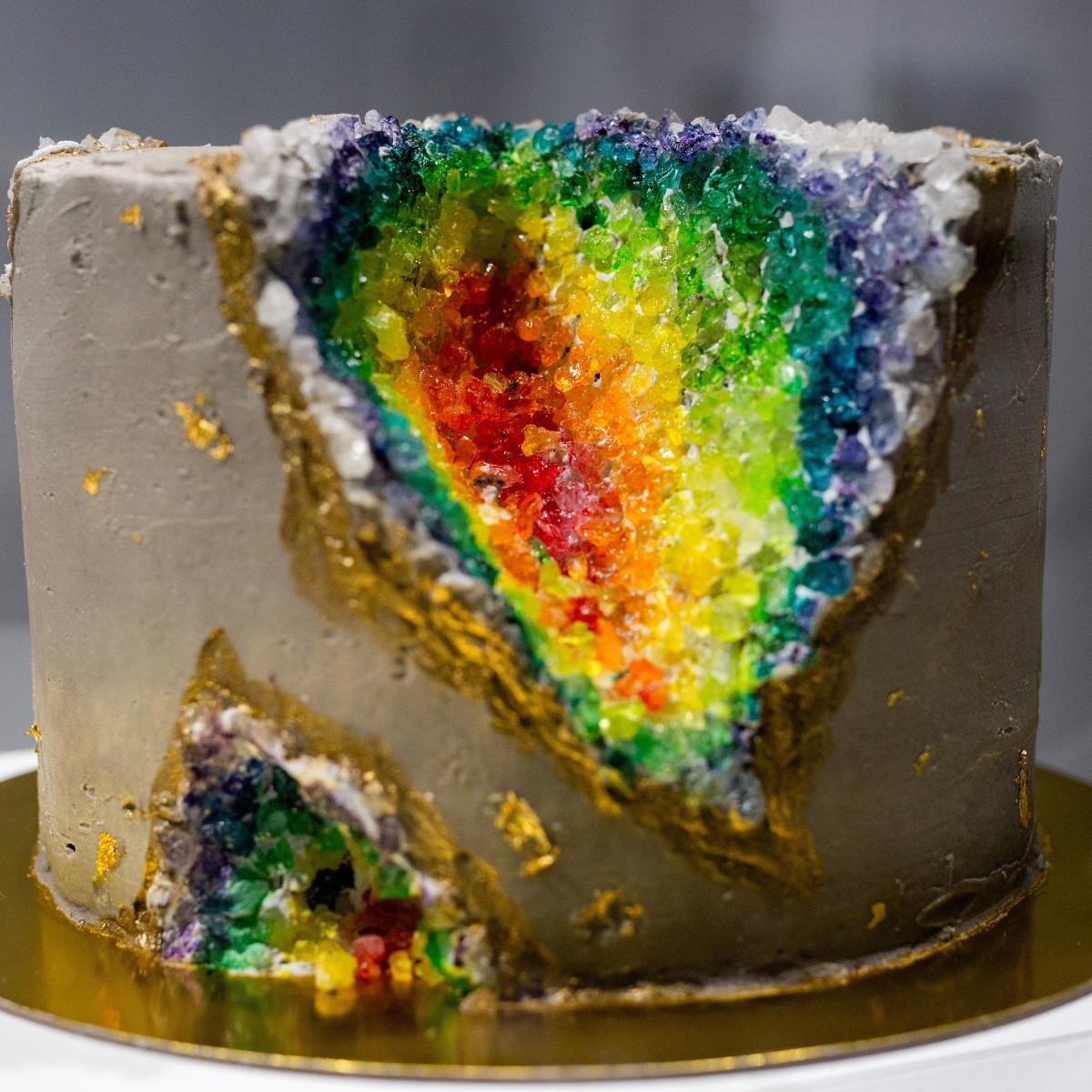 Depressed Cake Shop rainbow cake