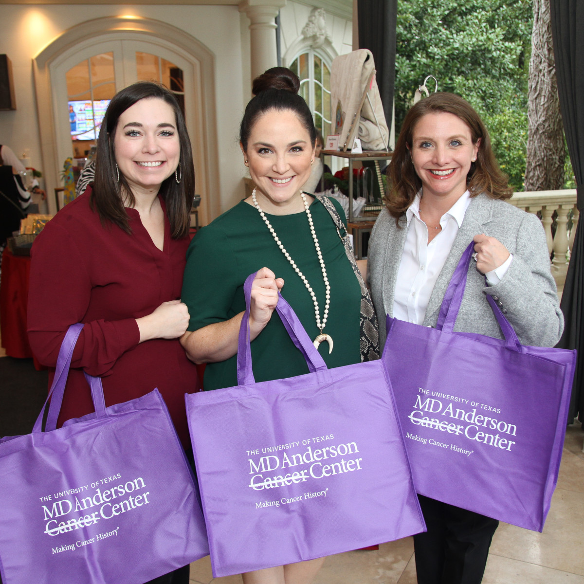 Paige Fertitta Children's Art Project trunk show MD Anderson Jenni McCrary, Meredith Wierick, Megan Streete