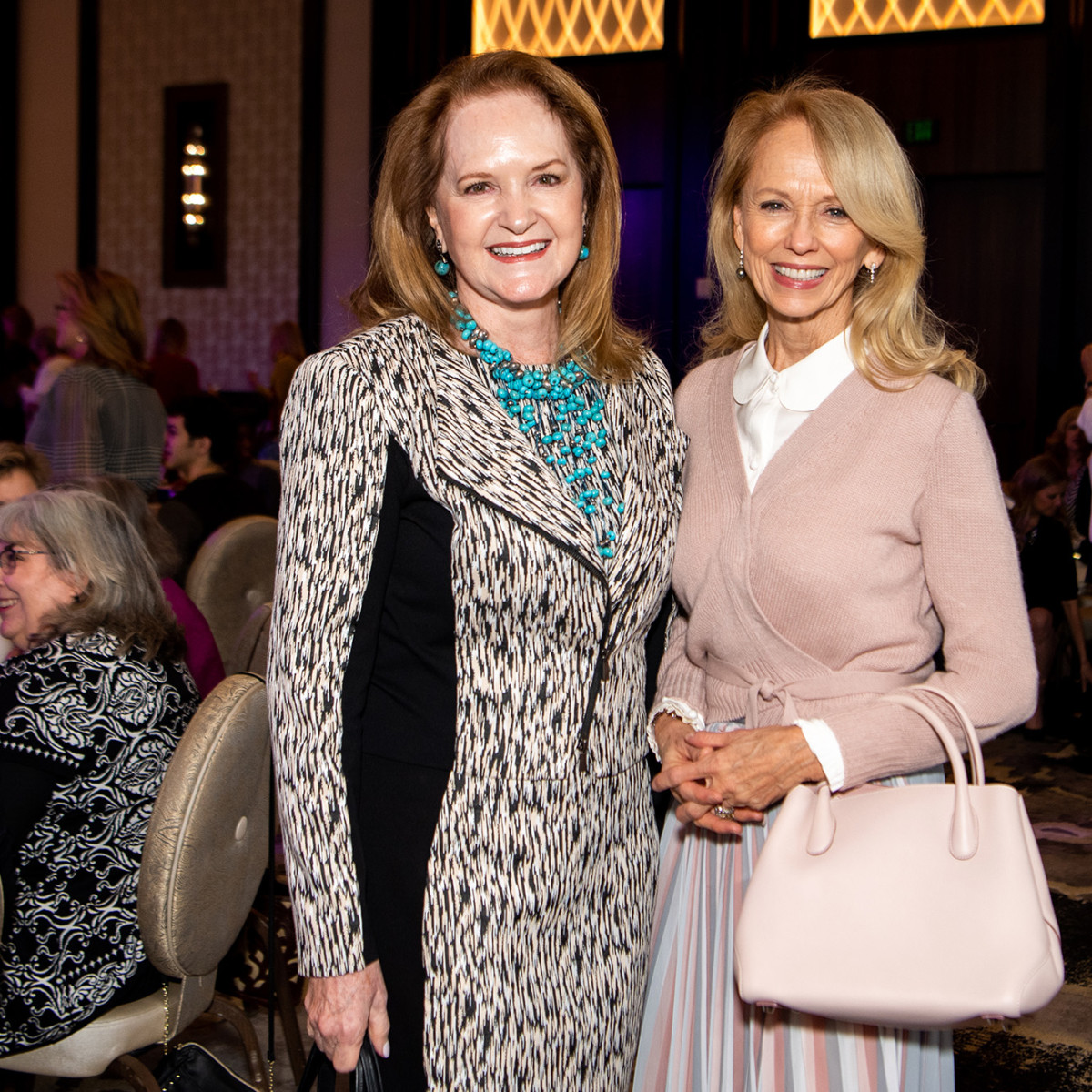 Barbara Bush Power of Literacy Luncheon Julie Andrews 2019 Sandy Barrett and Susan Sarofim
