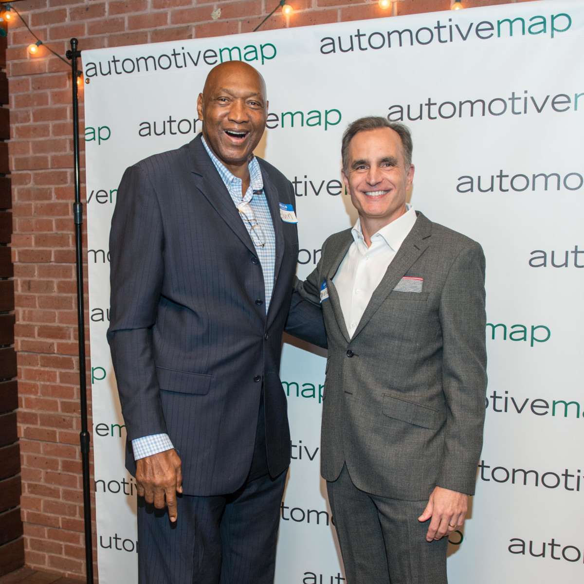 Automotive Map launch party 2019 Elvin Hayes and David Gow