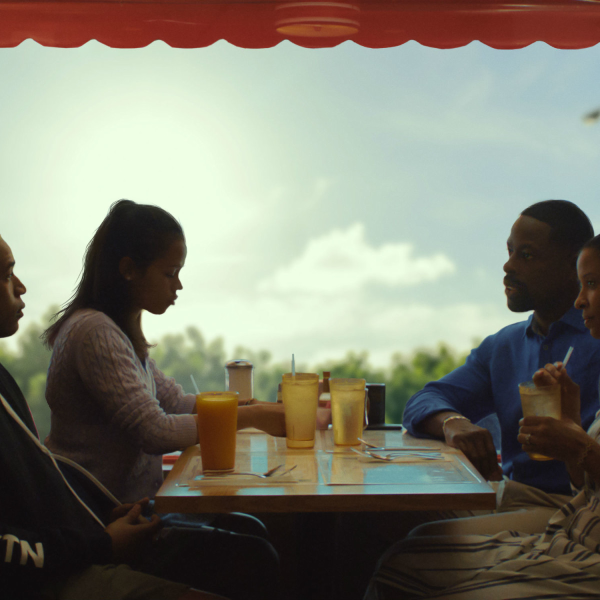 Kelvin Harrison Jr., Taylor Russell, Sterling K. Brown, and Renée Elise Goldsberry in Waves