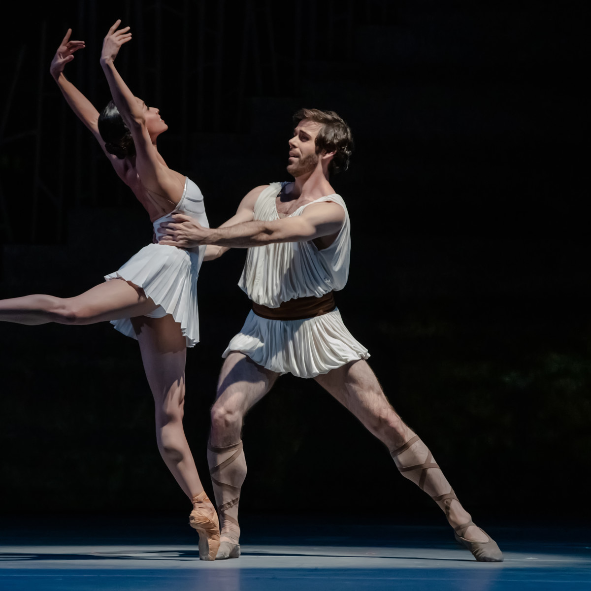 Houston Ballet principals Karina González as Sylvia and Connor Walsh as the Shepherd in Stanton Welch's Sylvia