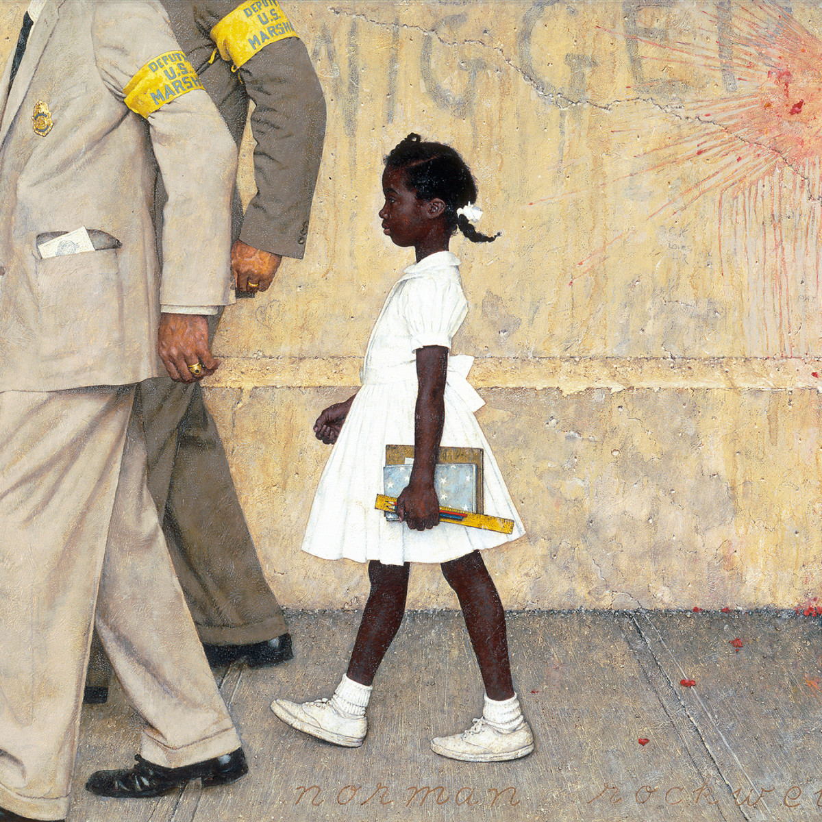 Norman Rockwell (1894-1978), The Problem We All Live With, 1963