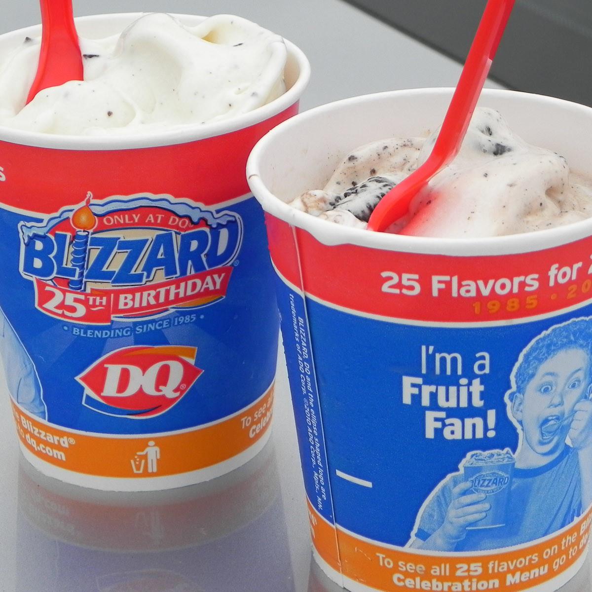 Dairy Queen, blizzard, ice cream