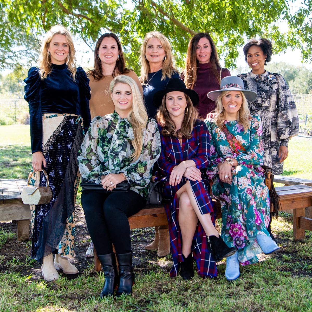 Fashion in the Fields 2019 Chairs & Co-Chairs - Lyndsey Zorich, Semmes Burns, Melissa Juneau, Elizabeth Dwyer, Roslyn Bazzelle Mitchel, Christine Falgout-Gutknecht, Mary Patton, Amanda Boffone_0113_RFSFashionInTheField_111019_MCW.jpg