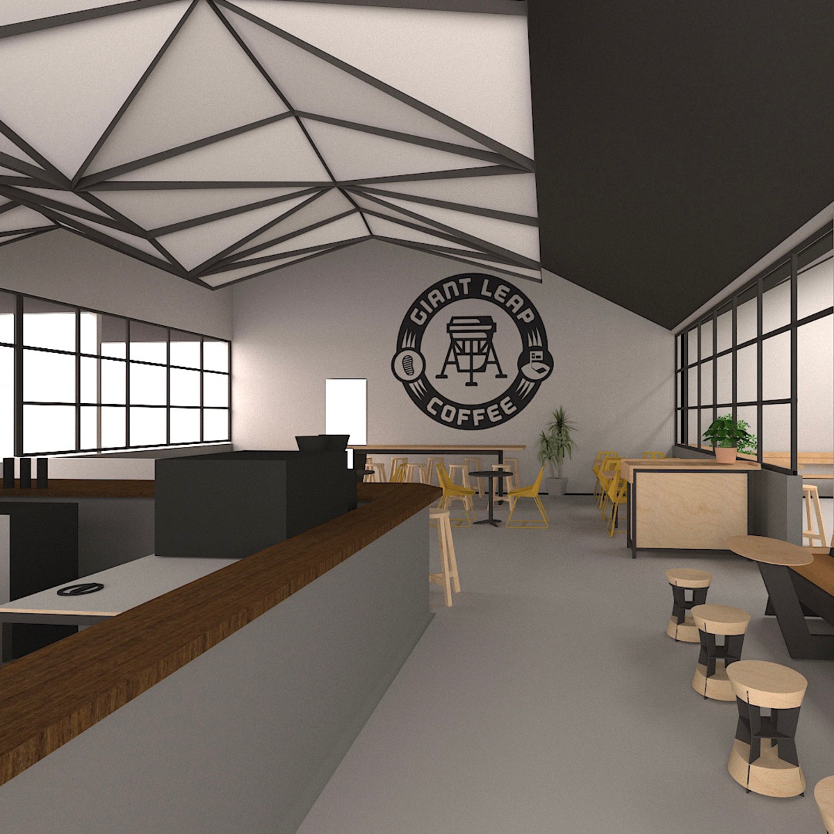 Giant Leap Coffee East End rendering