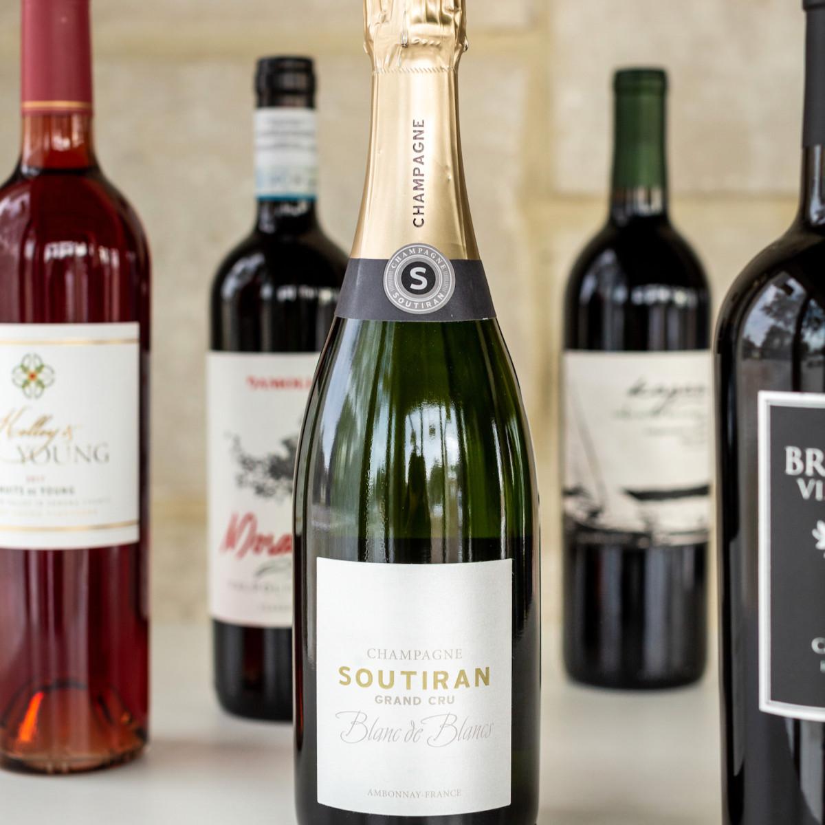 Mutiny Wine Room bottles
