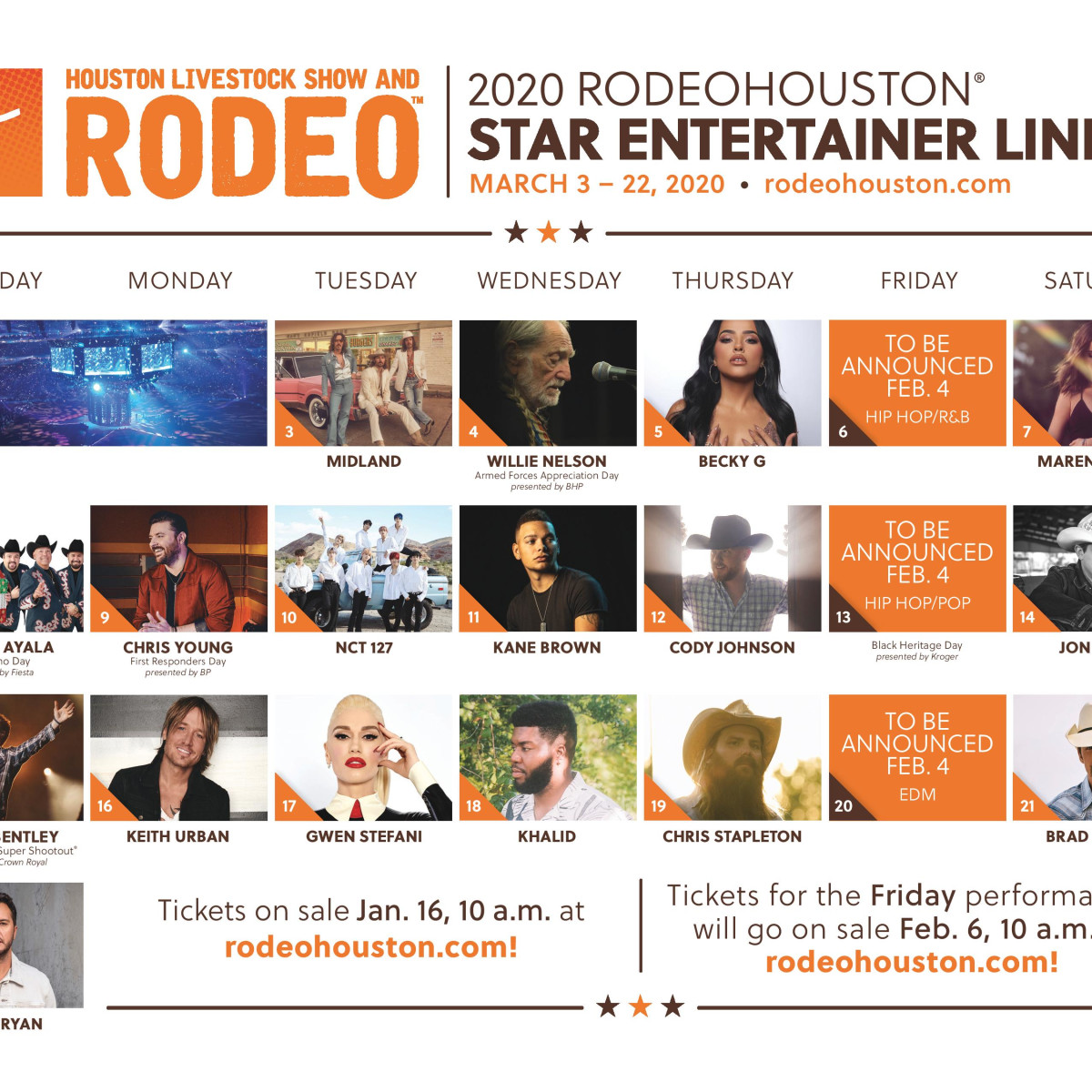 RodeoHouston 2020 line-up