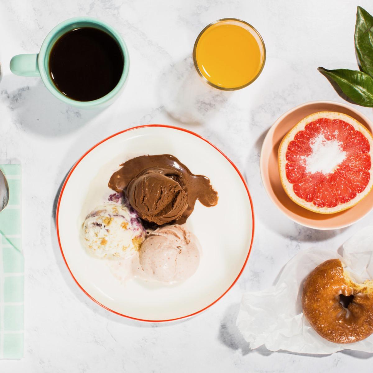 Jeni's Splendid Ice Creams breakfast