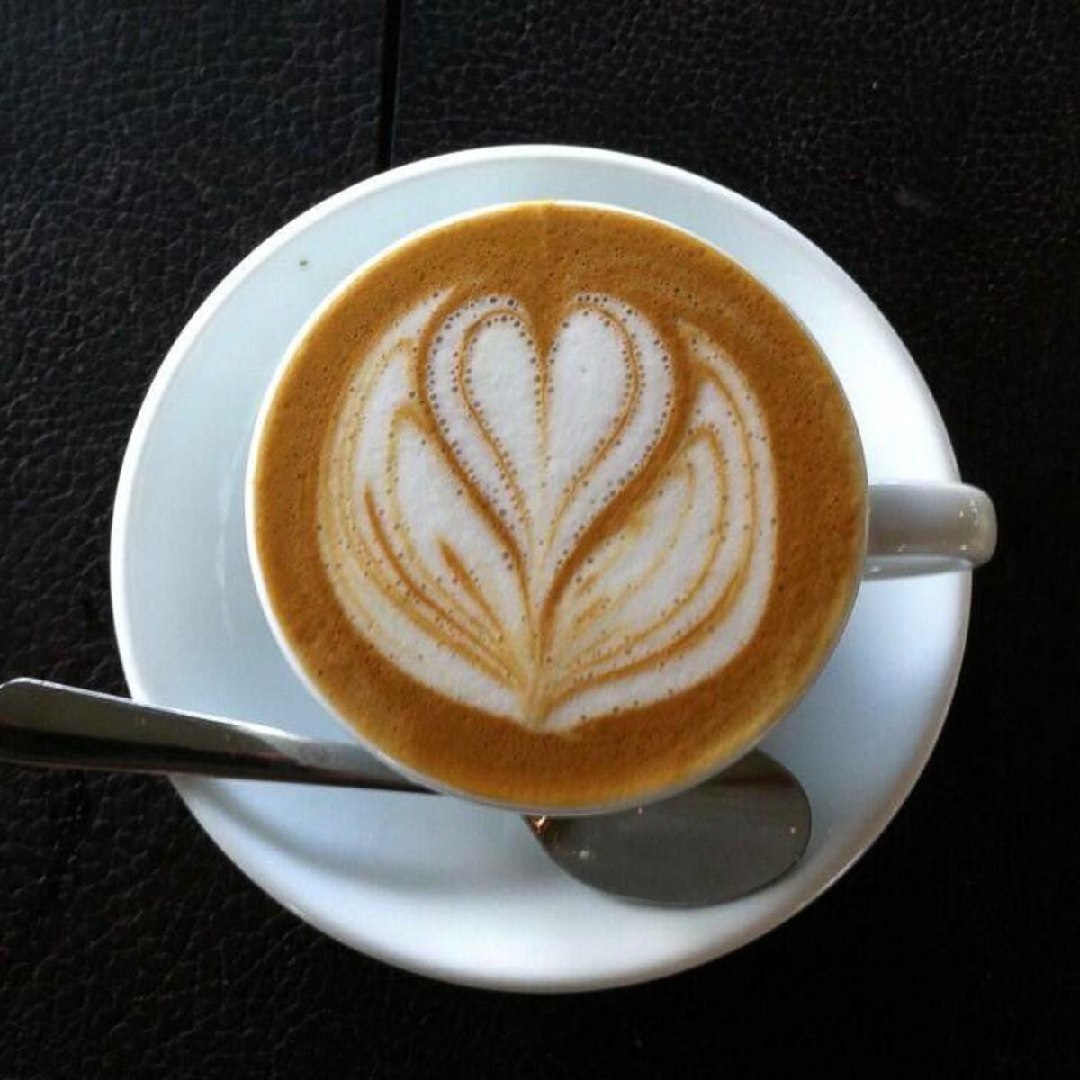 Blacksmith coffee latte art