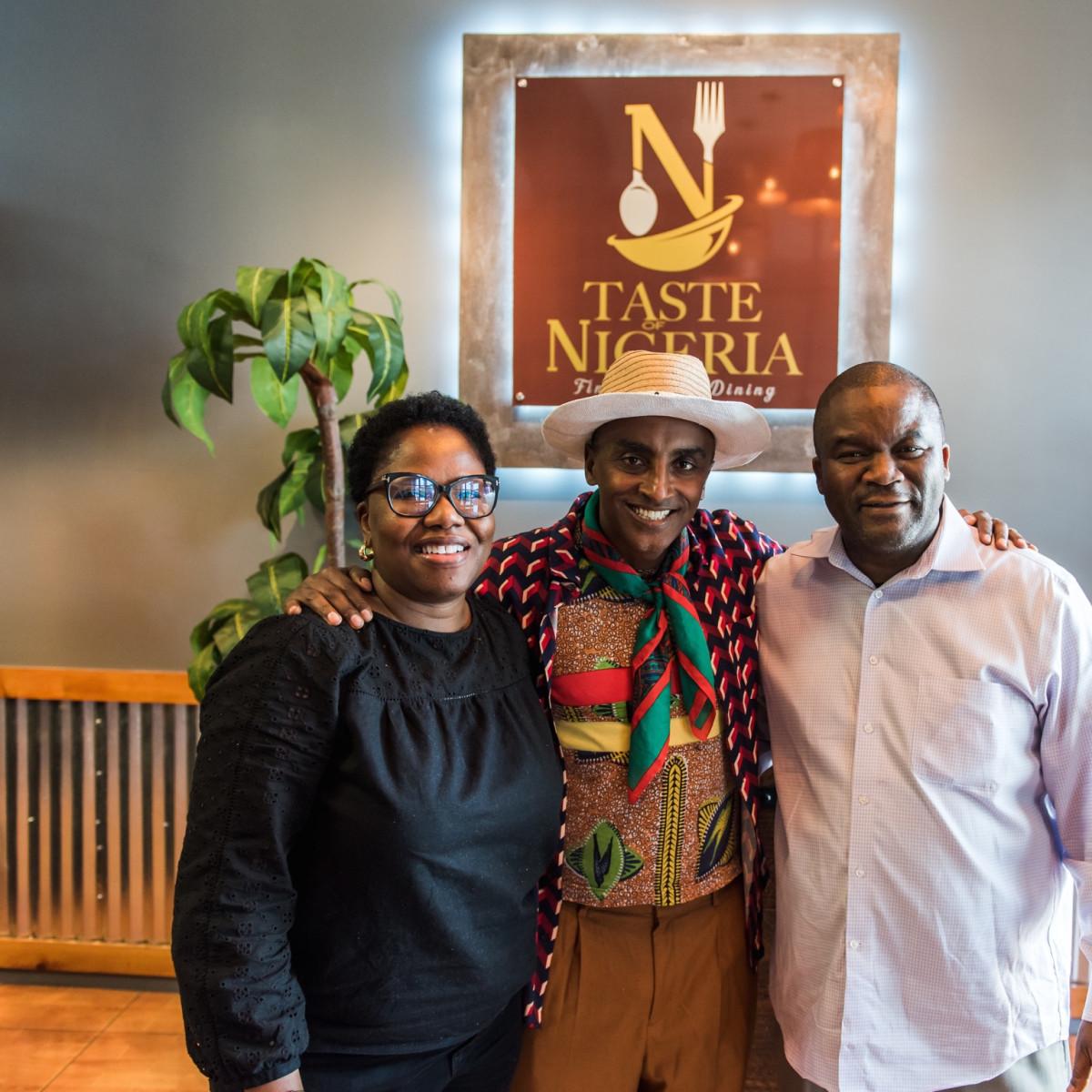 No Passport Required Taste of Nigeria Tiffaney Odewale, Chef Marcus Samuelsson and Rasak Odewale