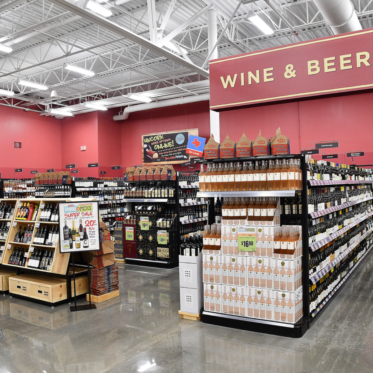 H-E-B Meyerland Market beer and wine