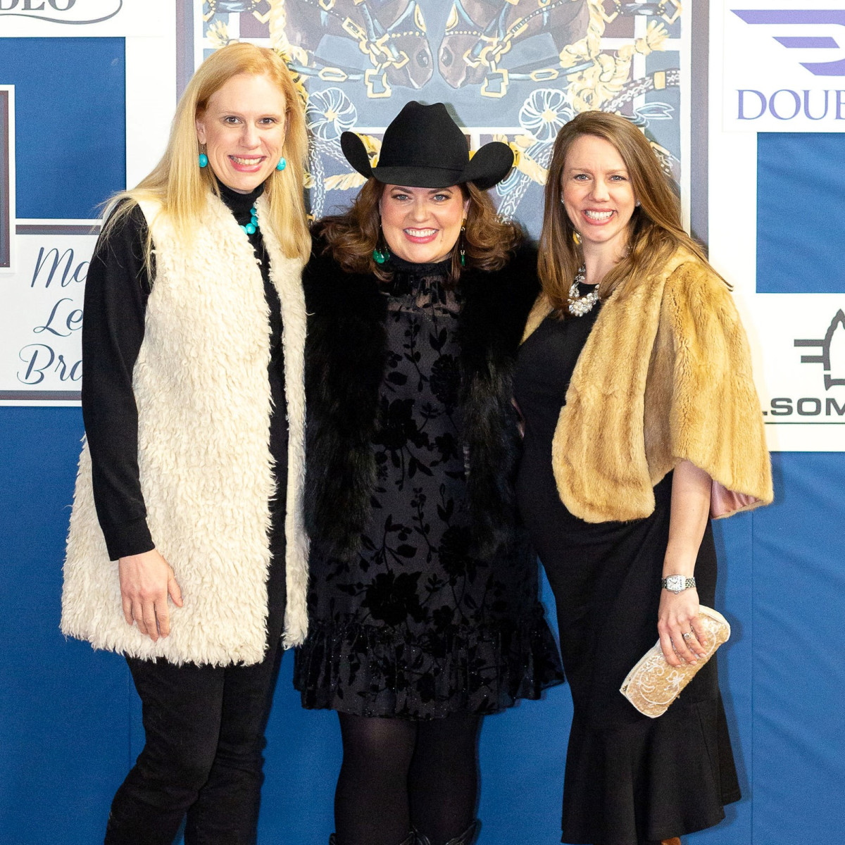 Kathy Harrelson, JLFW President Ashley Freer, Chris Curtis