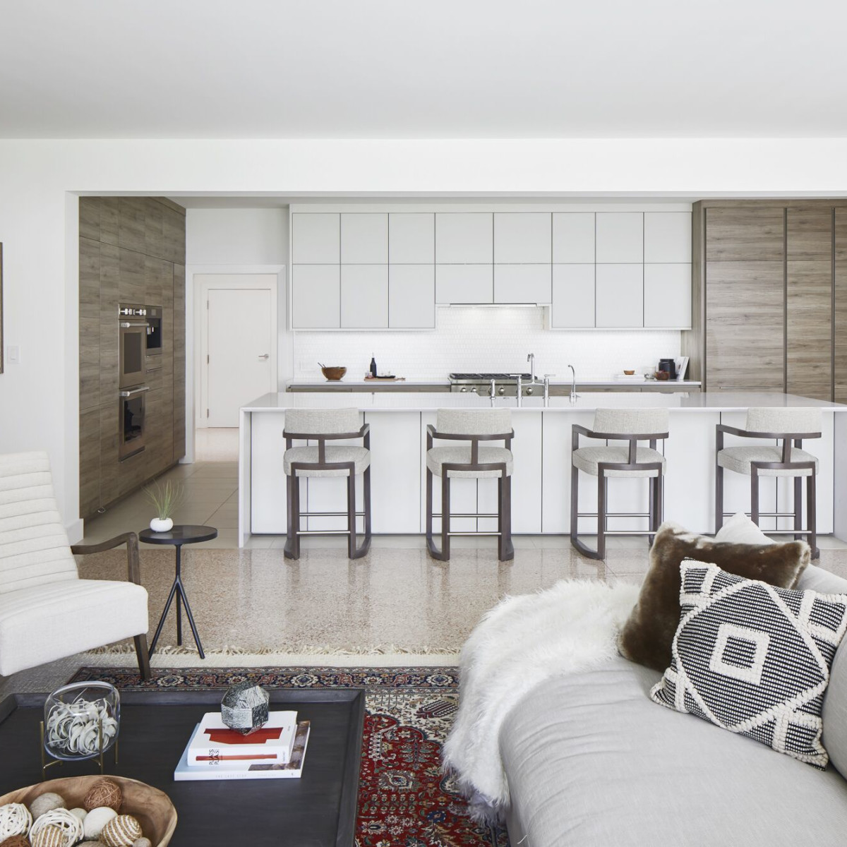 CG&S Concrete Remodel: Living room and kitchen