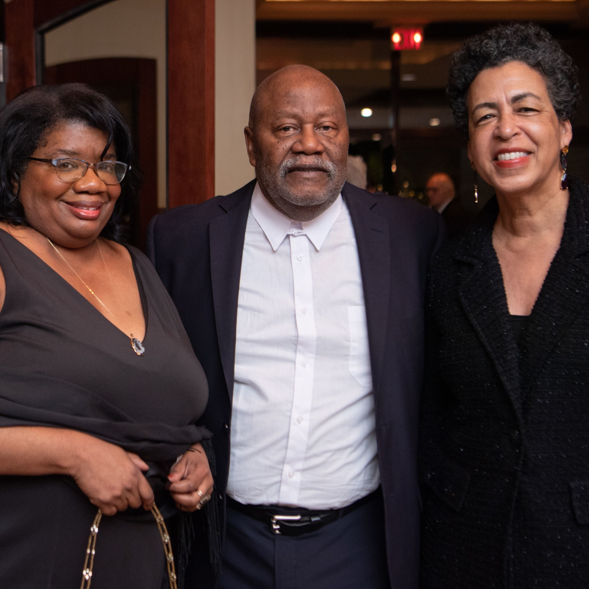 Inprint Poets & Writers Gala 2020: Inprint Treasurer Robbi Jones, Robert Ford, Docia Rudley