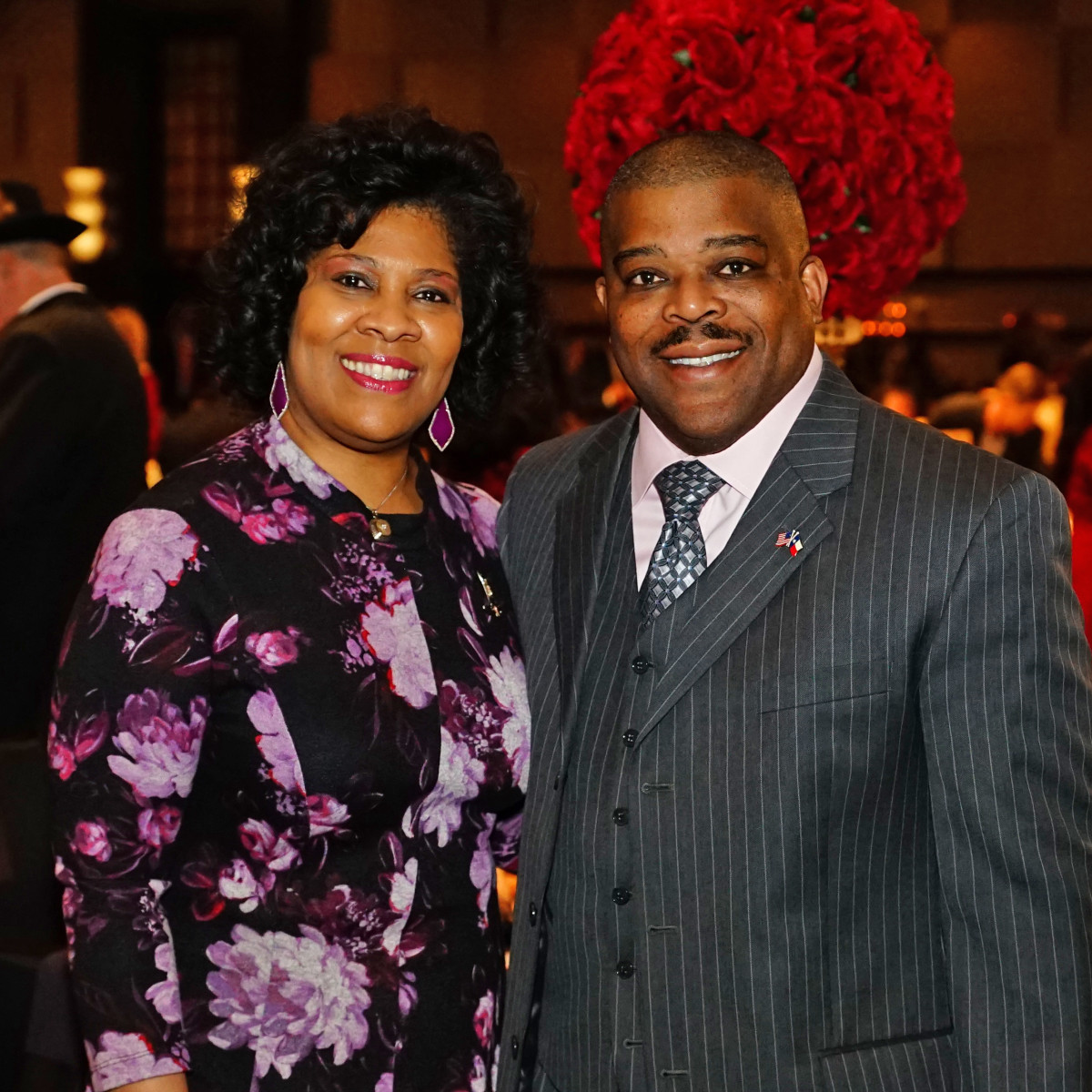 Rodeo Trailblazer Awards Luncheon 2020  Diedra & Dr. Terence Fontaine (HLSR Vice President)