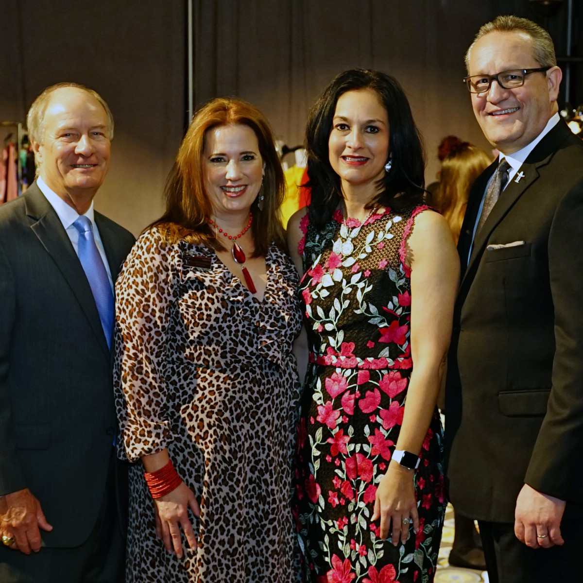 Rodeo Trailblazer Awards Luncheon 2020 HLSR Chairman of the Board Jim Winne, Trailblazer Committee Chair Jennifer Ewing Summerour, HLSR Vice President Tonya Yurgensen-Jacks and HLSR President & CEO Joel Cowley