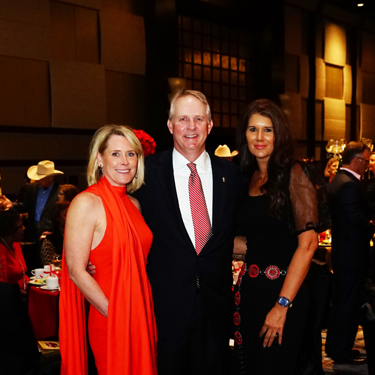 Rodeo Trailblazer Awards Luncheon 2020 Jan & Chris Underbrink (HLSR Vice President) and Shanna Brown
