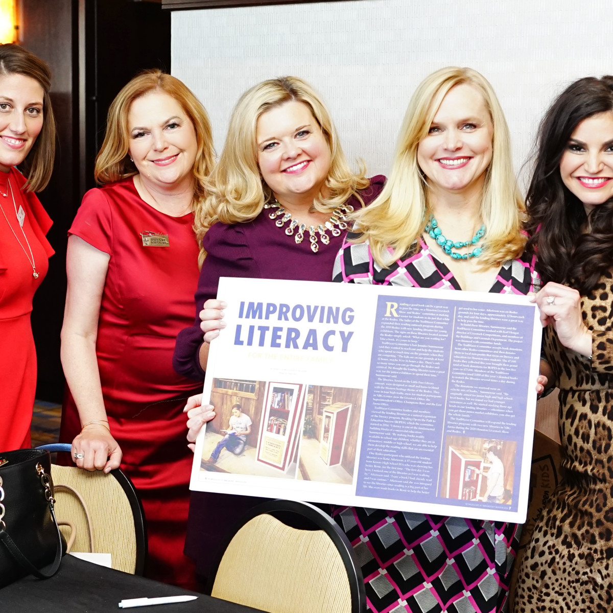 Rodeo Trailblazer Awards Luncheon 2020 Lauren Wasson, Mickie Clark, Ann Massey, Jill Lack, Nadia Knutzen