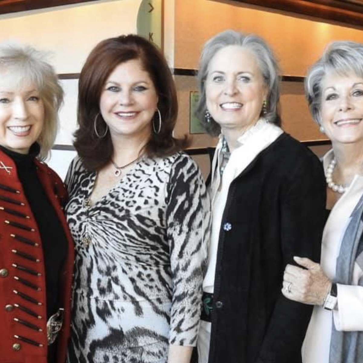 Rodeo Trailblazer Awards Luncheon 2020 Pat Mann Phillips (HLSR Executive Committee), Laura Kent, Sharleen Walkoviak (HLSR Lifetime Vice President) and Paula Robinson