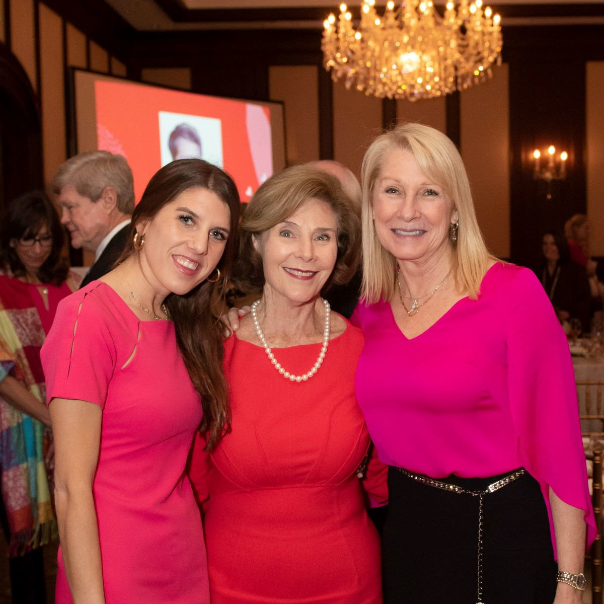 Christina Dabney, Laura Bush and Shelby Dabney