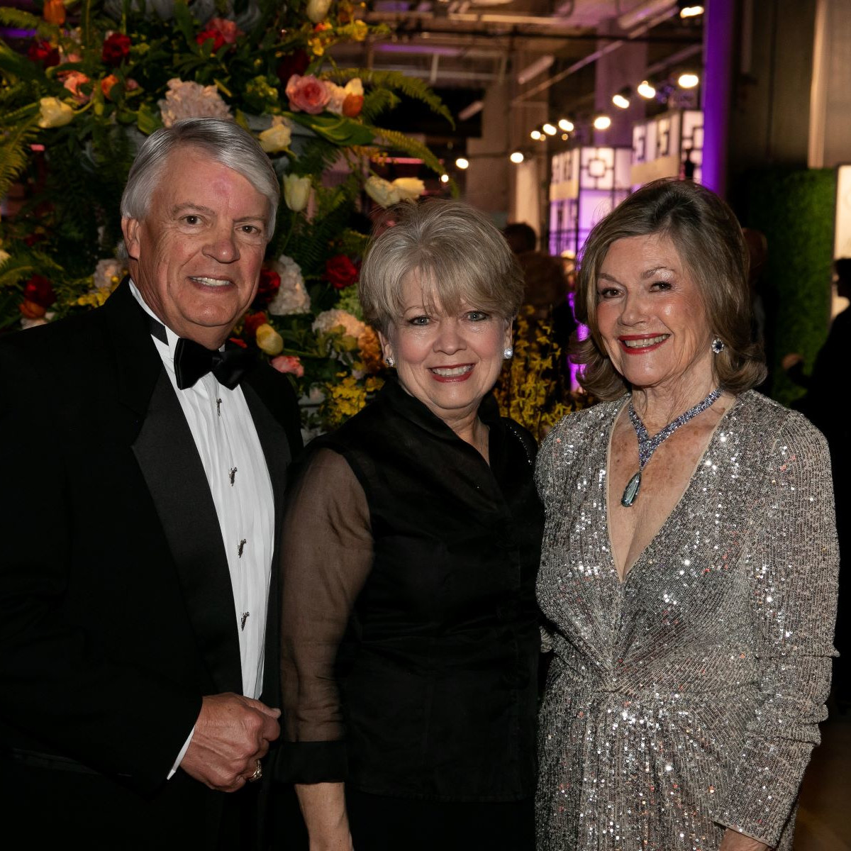 Peggy & Bill  Sims, Lou Martin JCB President